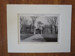Dormitories, Smith College, Northampton, MA, 1916, Lithograph. Charles A. Rich