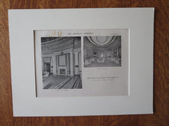 New Hotel Vancouver, Vancouver, BC, 1916, Lithograph. Francis Swales