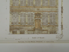The Skipper House, Ghent, Belgium, 1896, Original Plan.  James A. Swan.