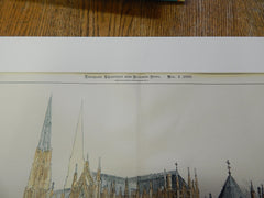 Lady Chapel, St. Patrick's Cathedral, New York, NY, 1900, Original Plan. N. Le Brun and Sons