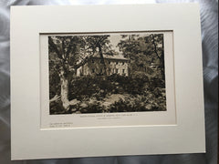 Winter Cottage 1, Marshall Field, Long Island, NY, 1927, Lithograph. John Pope.