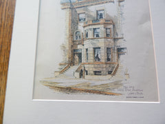 No. 243 West End Ave. New York, NY 1892. Original Plan. Lamb & Rich.