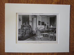 Comm. Charles Gould House, Greenlawn, NY, 1916, Lithograph. John Russell Pope