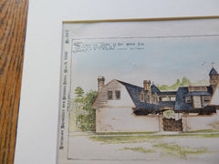 Stable for Julien Le Roy White, Baltimore MD 1892. Original Plan. J.A. & W.T. Wilson.