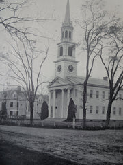 First Congregational Church, Old Lyme, CT, 1911, Lithograph. Ernest Greene