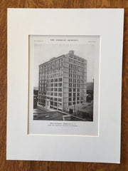 Kent Building, Brooklyn, NY, 1916, Lithograph. Day & Zimmerman