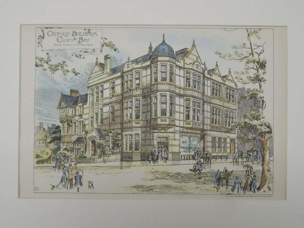 Oxford Buildings, Colwyn Bay, Wales, 1897, Original Plan. Booth, Chadwick, Porter.