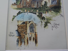 Cartmel Priory, Cartmel, Cumbria, UK 1891, Original Plan.