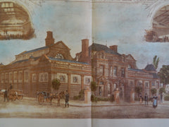 Broughton Baths, Borough of Salford, Manchester, England, 1890, Original Plan. Mangnall & Littlewoods.