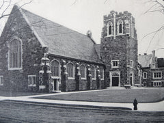 Second Congregational Church, Lynn, MA, 1911, Lithograph. Nelson & Van Wagenen