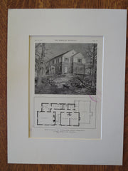 Donald Frothingham House, Darien, CT, 1929, Lithograph. La Farge, Warren & Clark