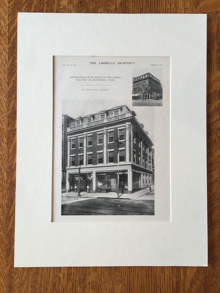 Haverhill Electric Co., Haverhill, MA,1916, Lithograph. James Ball