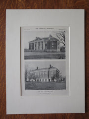 Town Hall, Lancaster, MA, 1911, Lithograph. A.W. Longfellow