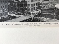Imperial Wire and Cable Co., Montreal, Canada, 1916, Lithograph. W.J. Carmichael