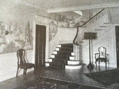 Stair Hall, House of Charles Dannals, Atlanta, GA, Hentz, 1916, Lithograph. Reid & Adler