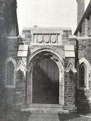 Zion Episcopal Church Entrance, Rome, NY, 1916, Lithograph. Nelson & Wagenen