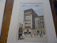 Warehouse of J. F. Dietz, Cincinnati, OH 1896. Original Plan. Hand-colored. Harry Hake.