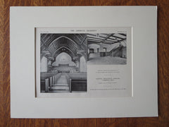 Interior, Andover Theological Seminary, Cambridge, MA, 1911, Litho. Allen & Collens.