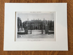 W.V.S. Thorne, Esq. House, Morristown, NJ, 1916, Lithograph. Delano & Aldrich