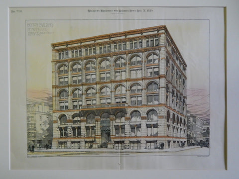Boston Building, Denver, CO, 1889, Original Plan. Andrews & Jaques.
