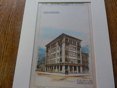Store/Apartment, Betts Brothers, Brooklyn NY 1892. Original Plan. Hand Colored. Betts & Fullerton.