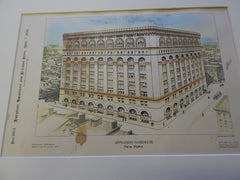 Appraiser's Warehouse, New York, NY 1896. Original Plan. Hand-colored. Christopher Washington.