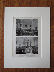 Interior, Cumberland County Courthouse, Portland, ME, 1911, Litho. Lowell