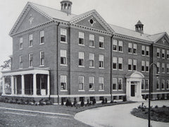 Providence City Hospital, Providence, RI, 1911, Lithograph. Martin & Hall