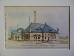 Eastern High Service Pumping Station, Baltimore, MD, 1890, Original Plan. Jackson C. Gott.