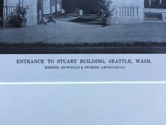 Stuart Building, Seattle, WA, Howells & Stokes, 1916, Lithograph