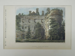 Exterior of Balveny Castle, Dufftown, Scotland, 1890, Original Plan.