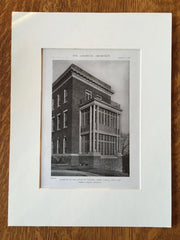 House of Calvary Hospital, Perry St., NY, 1919, Lithograph. Robert Reiley