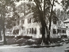 Exterior, House of F. Lincoln Pierce, Newtonville, MA, 1916, Lithograph. Derby & Robinson