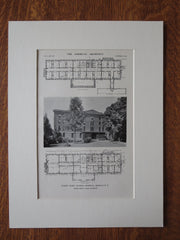 Nurses' Home, General Hospital, Buffalo, NY, 1911, Lithograph. Green & Wicks