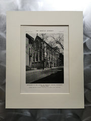 School of Theology, Boston Univ., Boston, MA, 1916, Lithograph. Bellows & Aldrich.