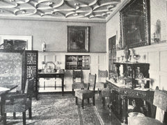 Interior, Dudley Allen Estate, Cleveland Heights, OH, 1916, Litho. Schweinfurth.