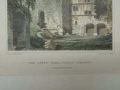 The Court Yard, Castle Campbell, Dollar, Scotland, 1890, Original Plan. R. W. Billings.