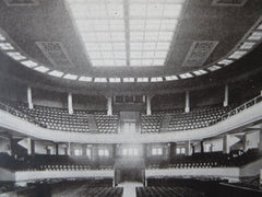 Interior, Municipal Auditorium, Savannah, GA, 1916, Litho. Henrik Wallin