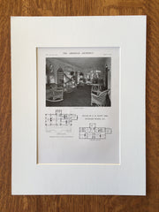 House of F.H. Scott, Esq., Hubbard Woods, IL, 1916, Lithograph. Otis & Clark
