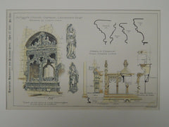 Chancel, St. Mary's Church, Cartmel, Lancashire, England, 1897, Original Plan. E. Eldon Deane.