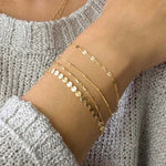 4pcs/set 2019 New Bohemia Bracelet set Multilayer Gold Silver Color Coin Chain Bracelets For Women Foot Chain Anklets Jewelry