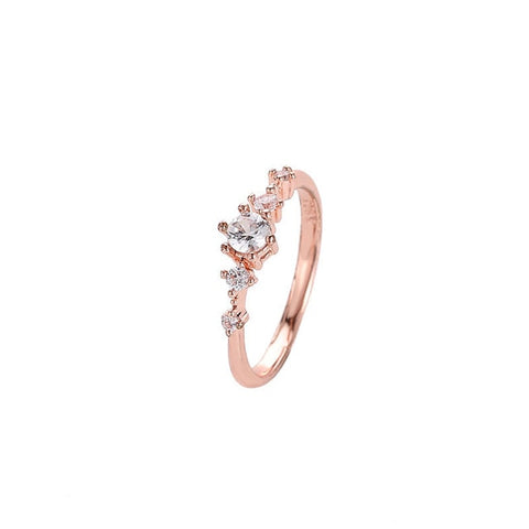 Japan And South Korea Rhinestone Rings For Women Silver Gold Rings Fresh Wedding Female Charm Knuckle Ring Crystal Jewelry