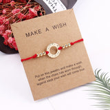 2019 New Delicate Gold Butterfly Heart Alloy Bracelet  Adjustable Red String Rope Bracelets Family Couple Gift Jewelry