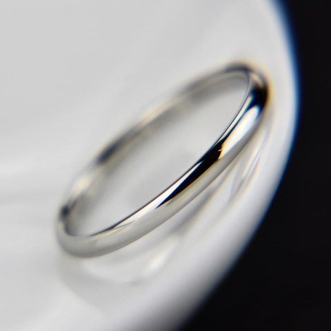 1PC Hot Sale Titanium Steel Rose Gold Ring Anti-allergy Smooth Simple Wedding Couples Rings For Women Men Jewelry Gift