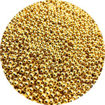 500/200/50pcs 2/4/6mm Gold/Silver/Bronze Tone Metal Beads Smooth Ball Spacer Beads For Jewelry Making DIY Bracelet Necklace