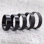 1PC New Ring Men Titanium Black Simple Fashion Men's Preferred Party Accessories Jewelry Collocation Gift Size 6 7 8 9 10