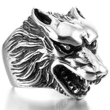 Free Fan Retro Gothic Punk Men Rings Trendy Skull Wolf Dragon Male Rings Jewelry Halloween Accessories Anillo Hombre Bijoux