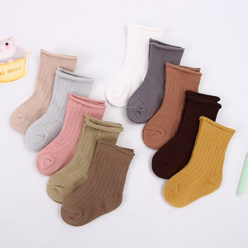 5 Pairs 0-5 Years Mix Colors Baby Cotton Summer Lace Ruffles Socks Boys Girls