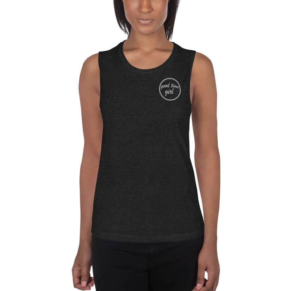 Good Time Girl (black muscle tank)