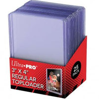"Ultra Pro 3"" X 4"" Clear Regular Toploader 25ct"